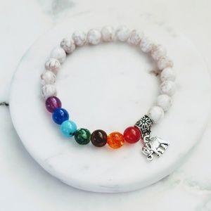Jewelry - 5 for $25 Multi Color Bead Elephant Charm Bracelt
